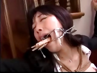 Asian Face Bondage