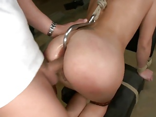 Sexy Anal Slave Babe Punished By Two Masters