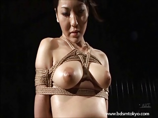 Wooden Bondage And Tit Torture Of Japanese Slave Girl