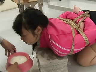 Japanese Schoolgirl Tied And Fucked In Classroom