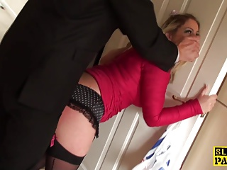 Spanked Brit Submissive In Chokeplay
