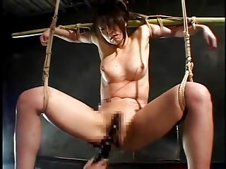 Suspended Japanese MILF-Multiple Orgasms