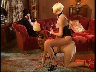 3 Women Play Bondage.