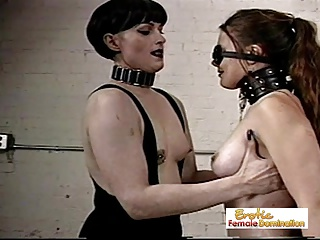 Girl Slaves Dominated By A Merciless Shemale