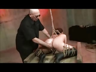 Tied Up Whipped And Masturbated