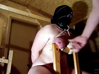 Bound Tits And Blowjob