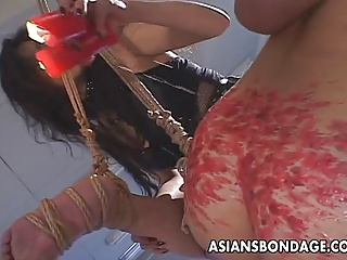 Smutty Japanese Babes Indulge In Group BDSM Action
