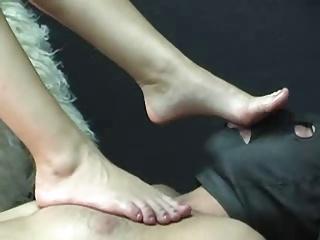 Blonde Mistress Feet Worship
