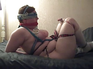 BBW Teen Big Tits Self-bondage