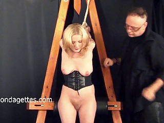 Amateur Blonde Weekays Dungeon Bondage And Sexual Domination