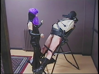 Dominatrix Pours Hot Wax On Dudes Cock And Balls