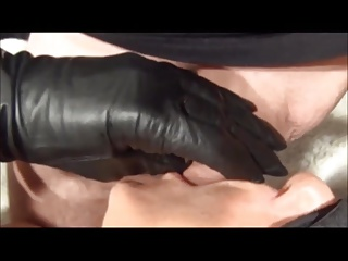 Compilation Of Ladies In Leather Coats And Gloves