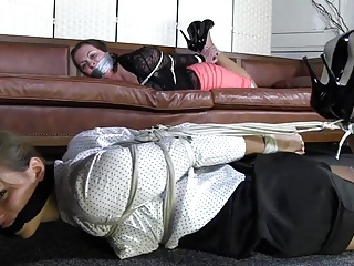 Two Girls Hogtied