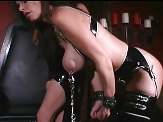 Luscious Latex Mistree Plays With Her Subs