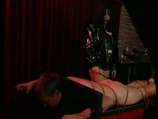 Mistress Hard Spanks Slave