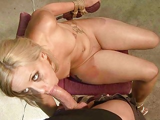 Hot Blonde Gets Bondaged And Fucked Rough
