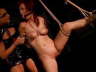 Young Mistress Punishing Busty Redhead