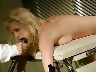 Young Blonde Gets Painfully Punished And Fucked