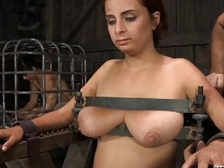 Tied Up Slave Receives Pleasuring Her Love Tunnel