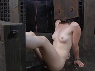 Chick Gets Her Smooth Wazoo Whipped During Torture