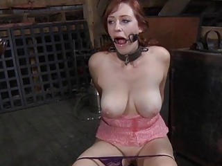 Tied Up Beauty Receives Satisfying For Her Pussy
