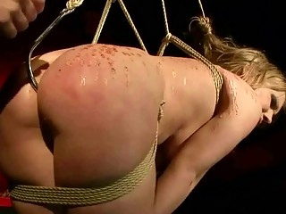 Naughty Blonde Gets Bondaged And Anal Fucked