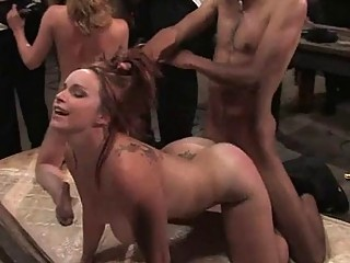 Suffering From A Group Punishment Liberates Wench