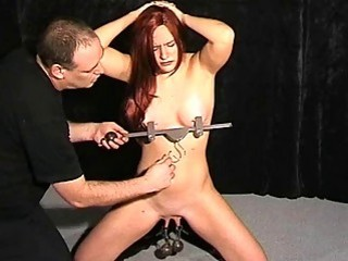 Extreme Pussy Torture And Nipple Clamps Of Debutan