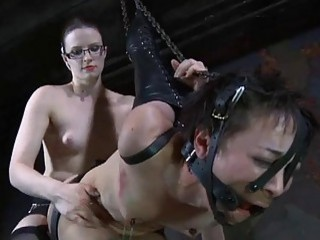 Serf Receives Ass Whipping Before Pussy Torturing