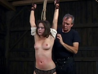 Caged Beauty Gets A Whipping For Her Smooth Ass