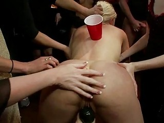 Explicit Group Tormenting For A Busty Thrall