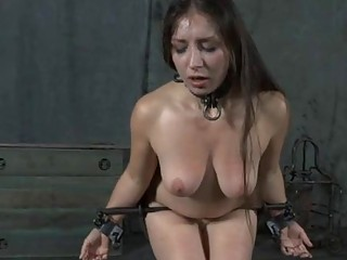 Caged Up Girl Is Forced To Give Dude Cock Sucking