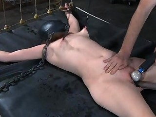 Charming Slave Bounded With Legs Widen Wide Open