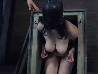 Hotty Gets Her Pussy Satisfied While Inside A Cage