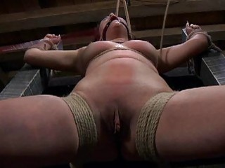 Gagged Beauty With Clamped Nipples Gets Wild Joy