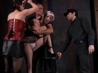 Clamped Up Playgirl Is Receiving Facial Torment