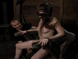 Gagged And Tied Up Gal Gets Her Clits Gratified