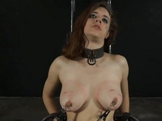Restrained Gal Is Hoisted Up For Her Hawt Torture