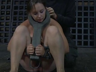 Clamped Up Angel Acquires Her Fuck Holes Tortured