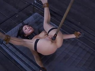 Restrained Gal Made To Submit To Man Horny Demands