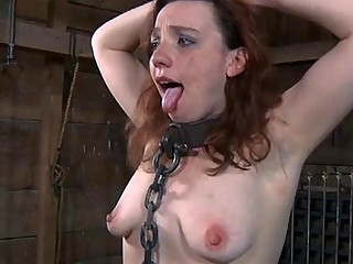 Girl Gets Her Pussy Satisfied While Inside A Cage