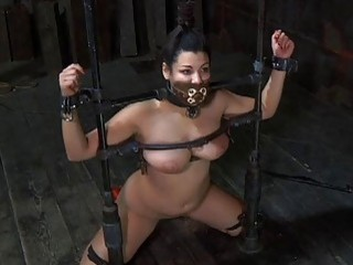 Bounded Serf Gal Is Getting A Twat Punishment