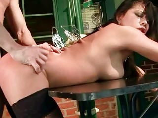 Latina Beauty Gets Tied Up And Fucked Rough