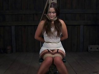 Gagged Beauty With Clamped Nipps Receives Wild Joy