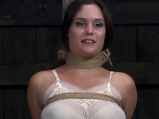 Angel Receives Castigation For Her Shaved Cunt