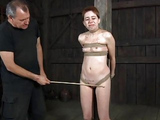 Brave Gal Is Getting Amoral Beating On Her Wazoo