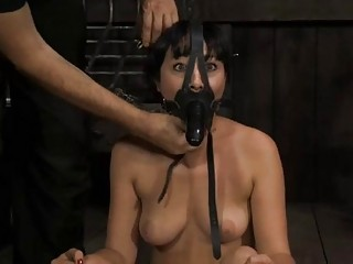 Tied Up Beauty Acquires Pleasuring For Her Cunt