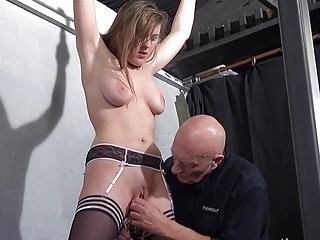 Sexy Slave Taylor Hearts Pussy Clamped Suffering