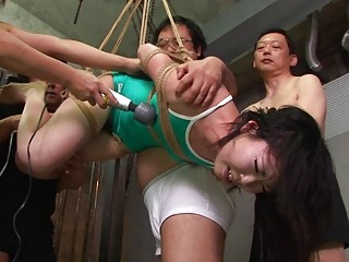 Asian Freak Tied Up To Be Sexually Tortured By Som