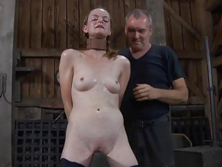Fastened Up Slave Acquires Pleasuring Her Twat